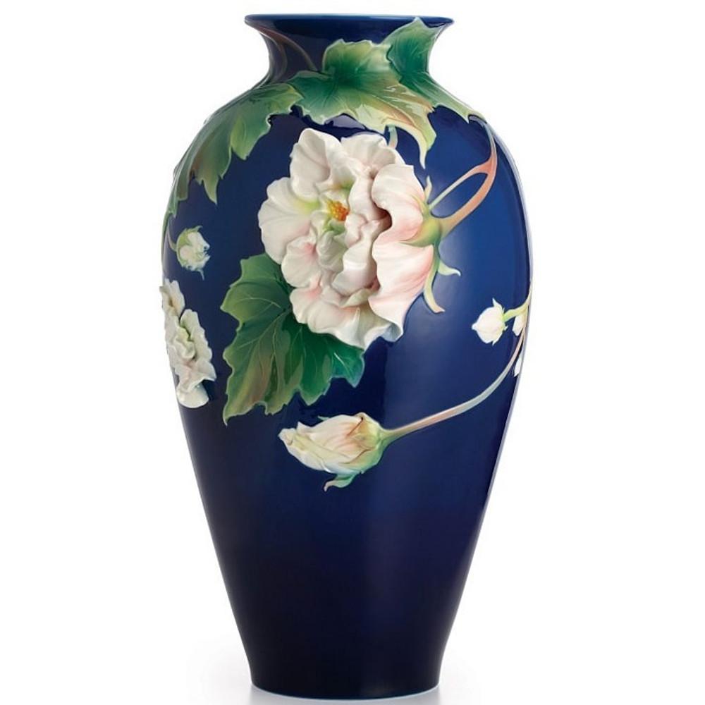 Cotton Rose Porcelain Vase   FZ02484   Franz Collection