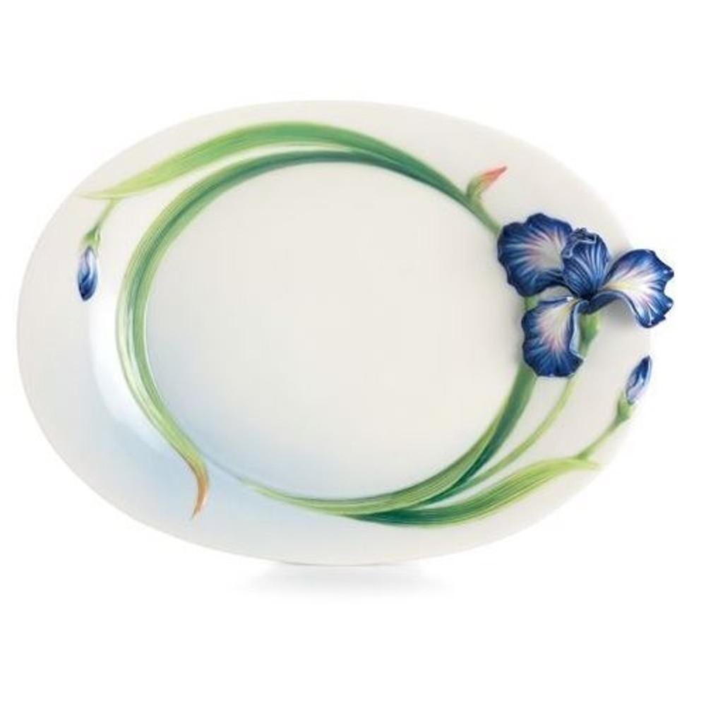 Eloquent Iris Flower Dessert Plate | FZ02494 | Franz Porcelain Collection