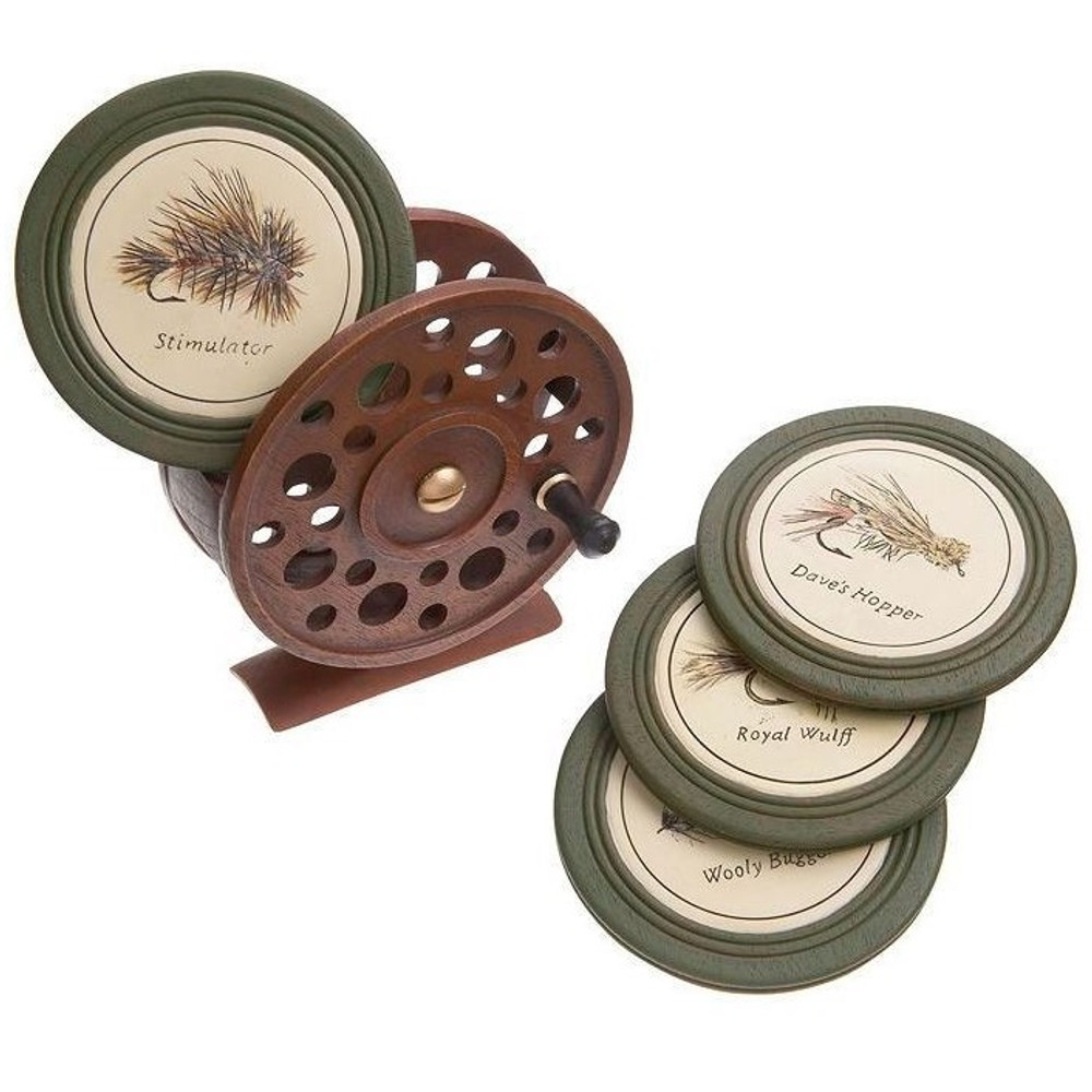 Fly Reel Coaster Set of 4 | Big Sky Carvers | BSC30170694
