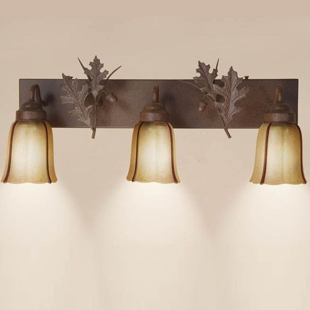 Oak Leaves Vanity Light | Colorado Dallas | CDBL24GS09MA