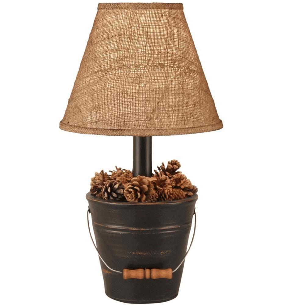 Bucket of Pine Cones Black Lamp | Coast Lamp | CLM2635