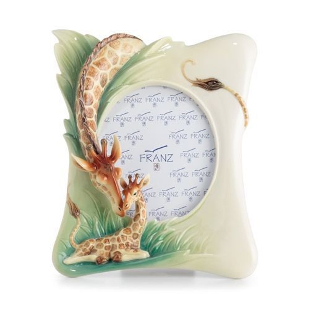 Giraffe Photo Frame Endless Beauty | FZ02578 | Franz Porcelain Collection