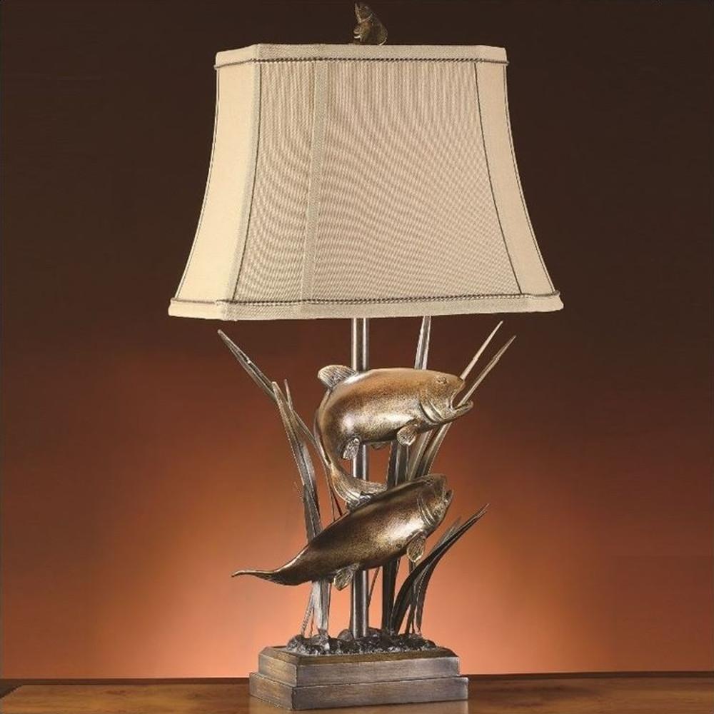 Fish Table Lamp Upstream | Crestview Collection | CVCCVATP586