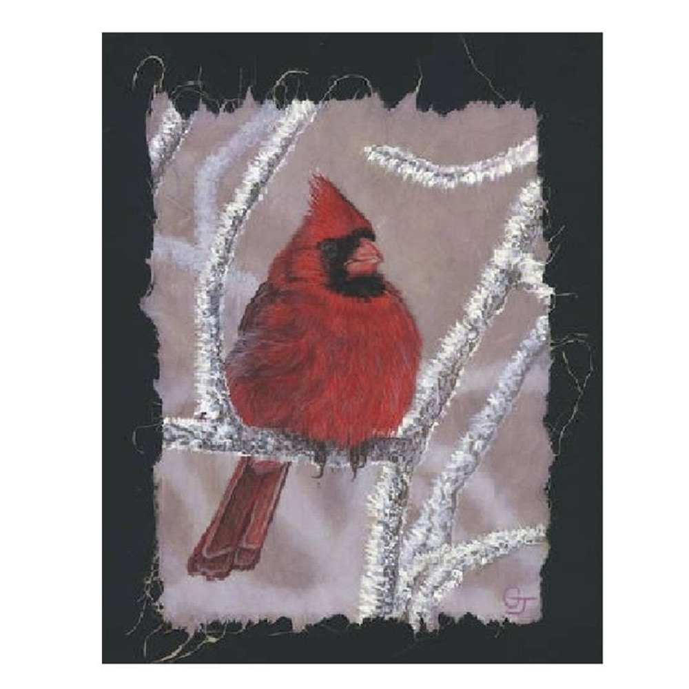 Cardinal on Ice Print | Gary Johnson | GJcardice
