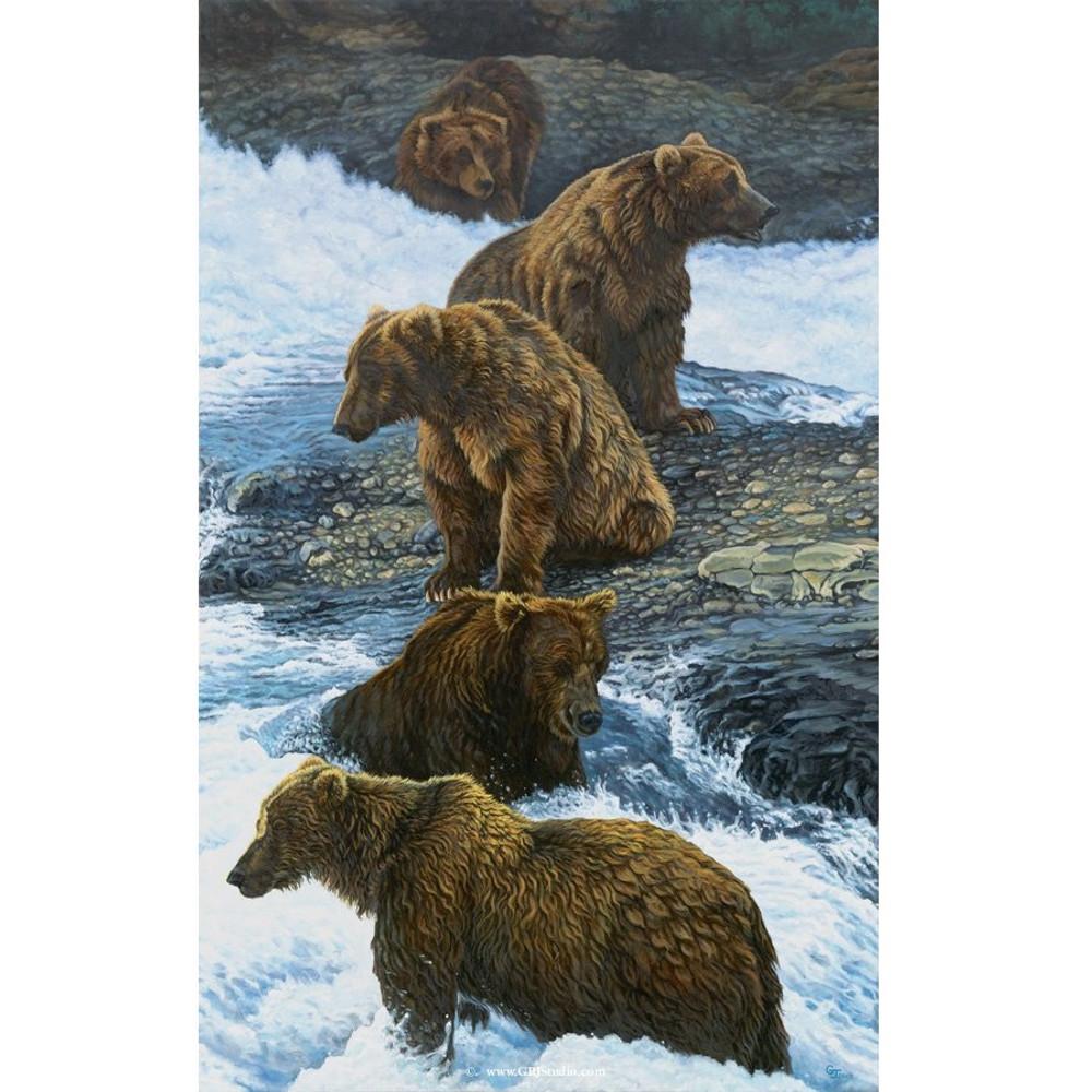 """Bear Print """"Dinner Party""""   Gary Johnson   GJgcdpmed"""