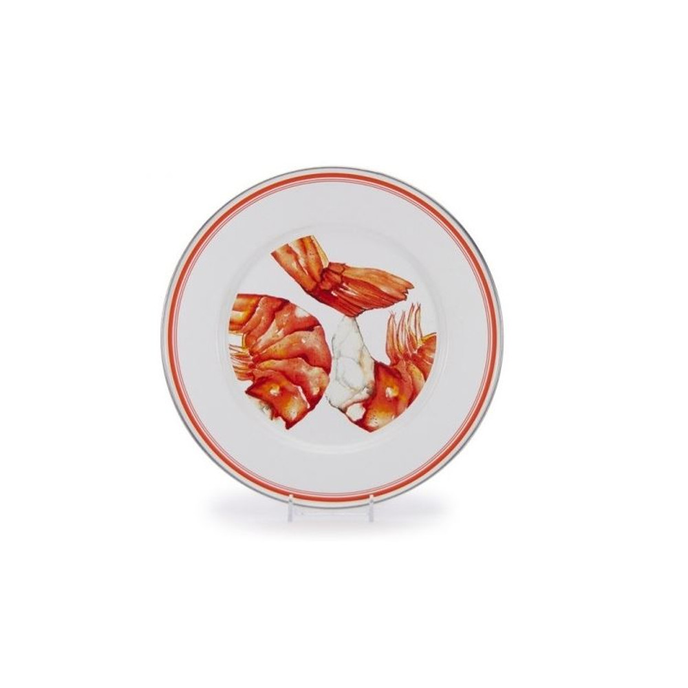 Shrimp Dinnerware 4 Piece Place Setting Enamelware | Golden Rabbit | GRESHRIMP -4