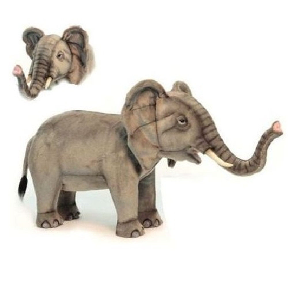 Elephant Plush Foot Stool | Hansa Toys | HTU6081