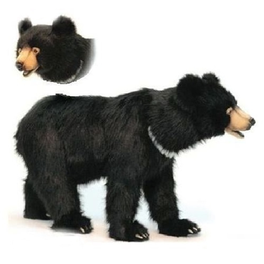 Black Bear Foot Stool | Hansa Toys | HTU6086
