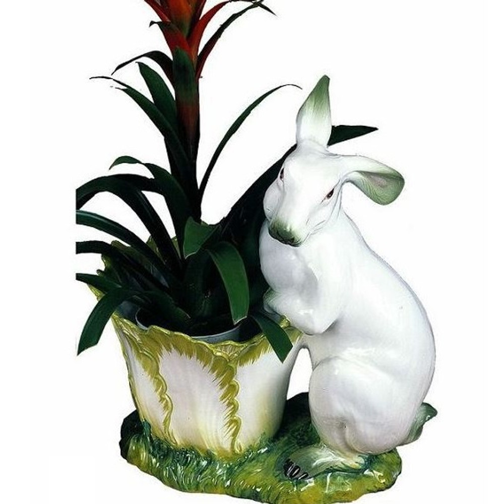 Standing Bunny Ceramic Cachepot | Intrada Italy | INTHOP9049