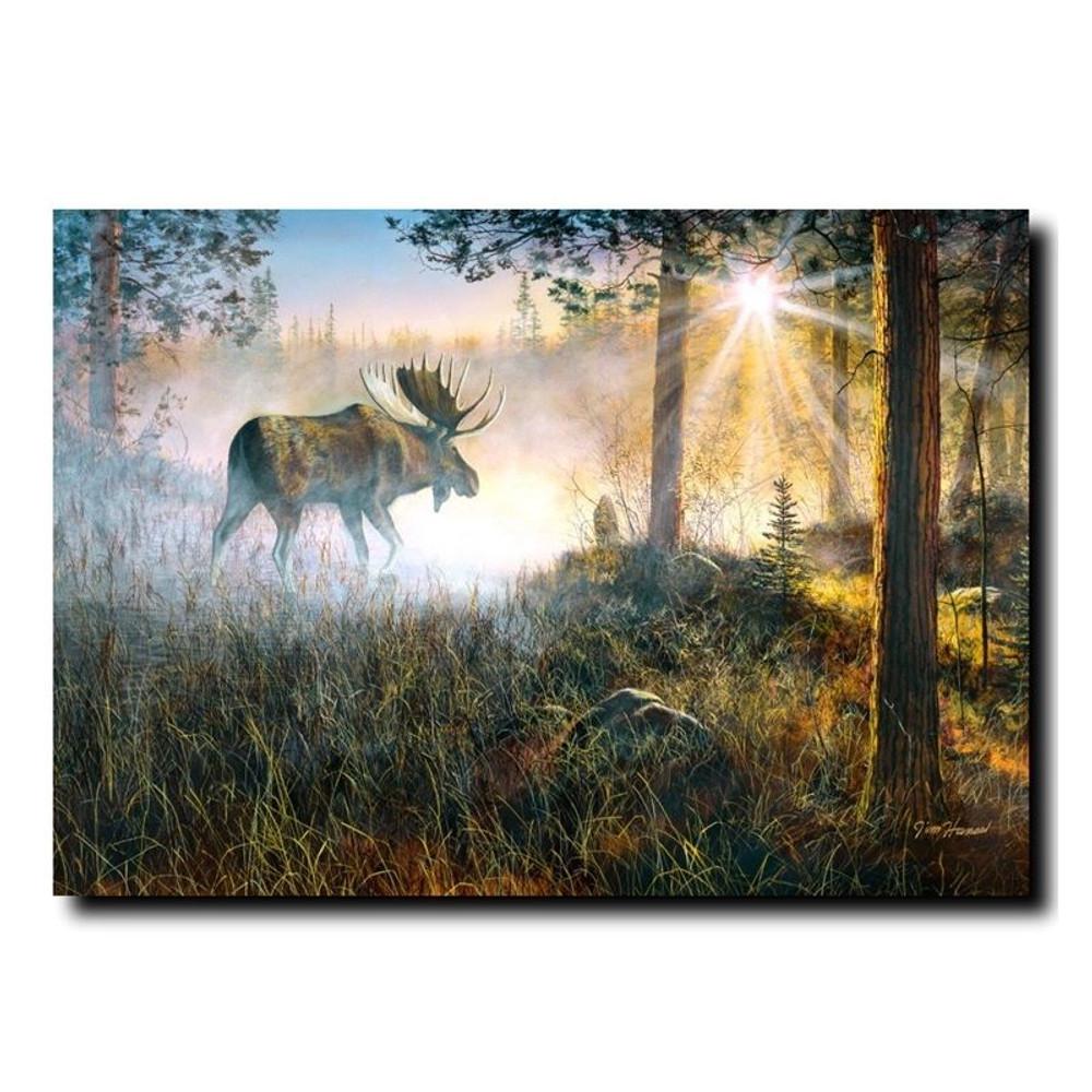 "Moose Print ""Walk in the Mist"" | Jim Hansel | JHwalkinmist"