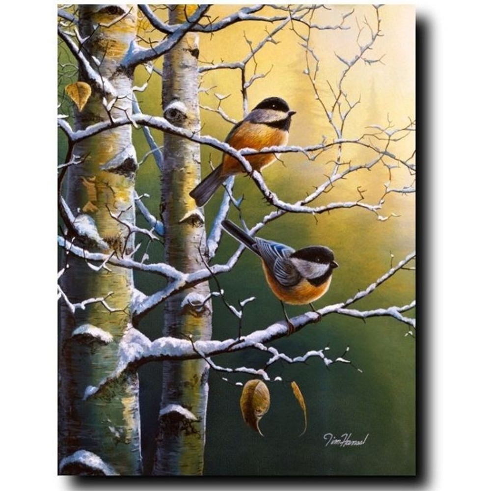 "Chickadee Print ""Winter Refuge"" 