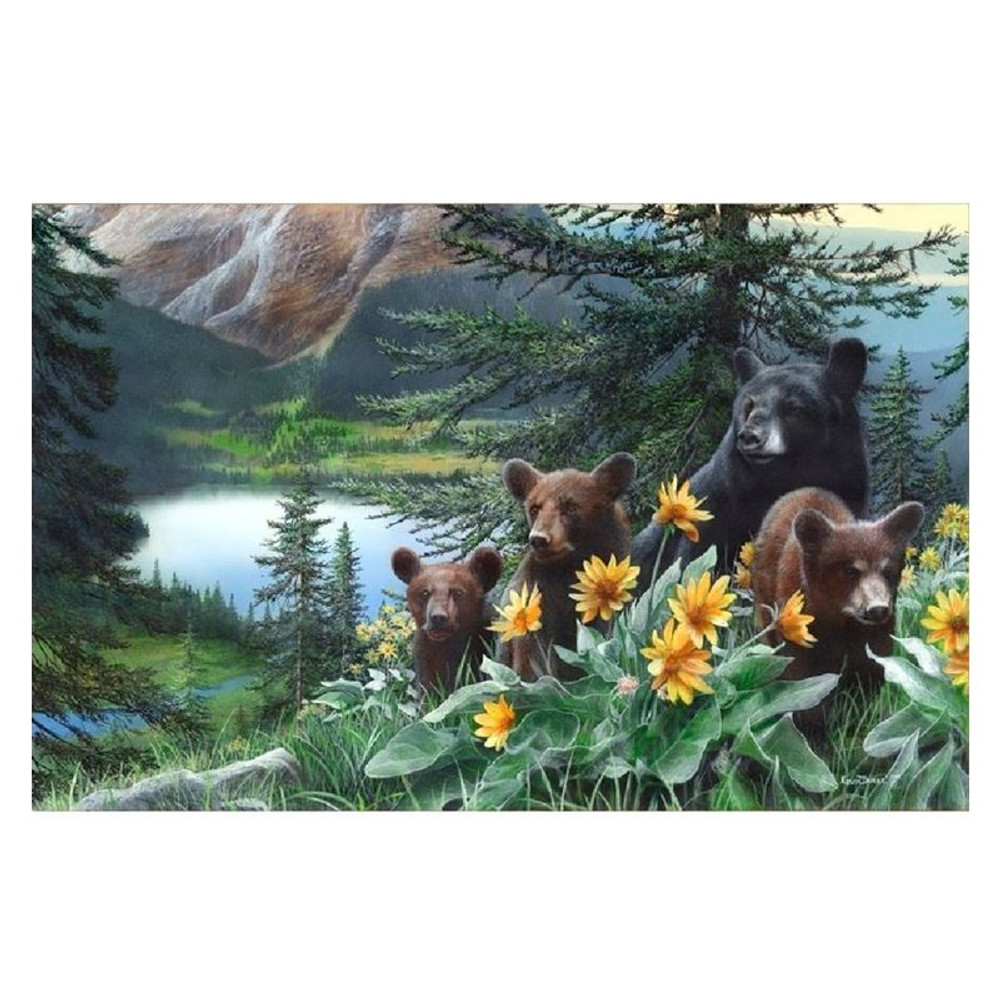 "Bear Print ""Basking in the Balsamroot"" | Kevin Daniel | KD308"
