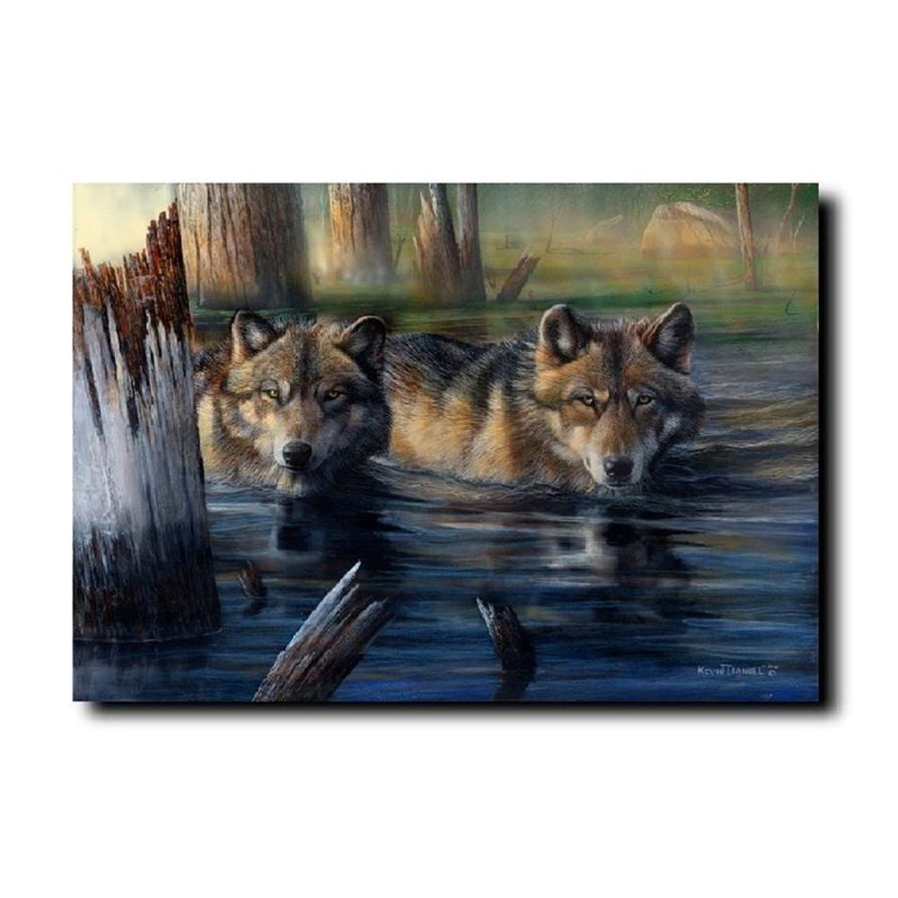 "Wolf Print ""Shallow Backwaters"" | Kevin Daniel | KD429"