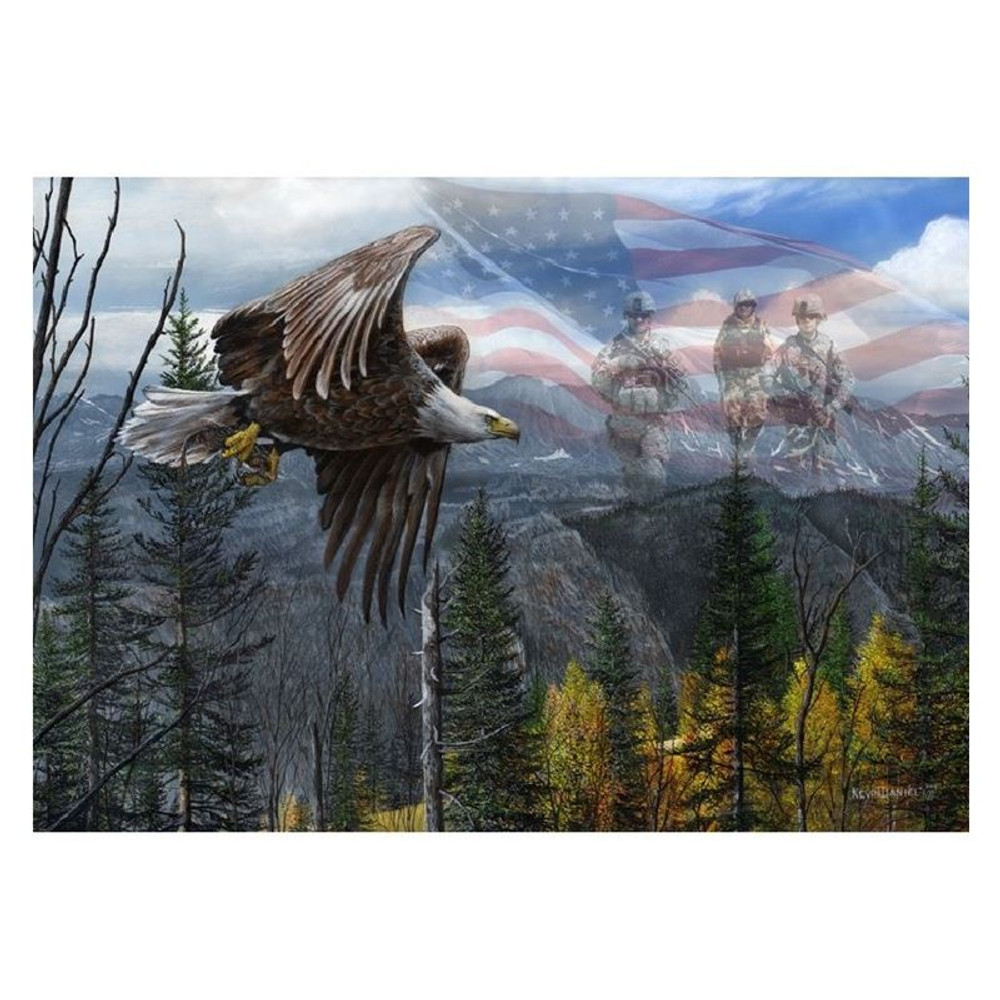 """Eagle Print """"May Freedom Forever Fly II""""   Kevin Daniel   KD468"""