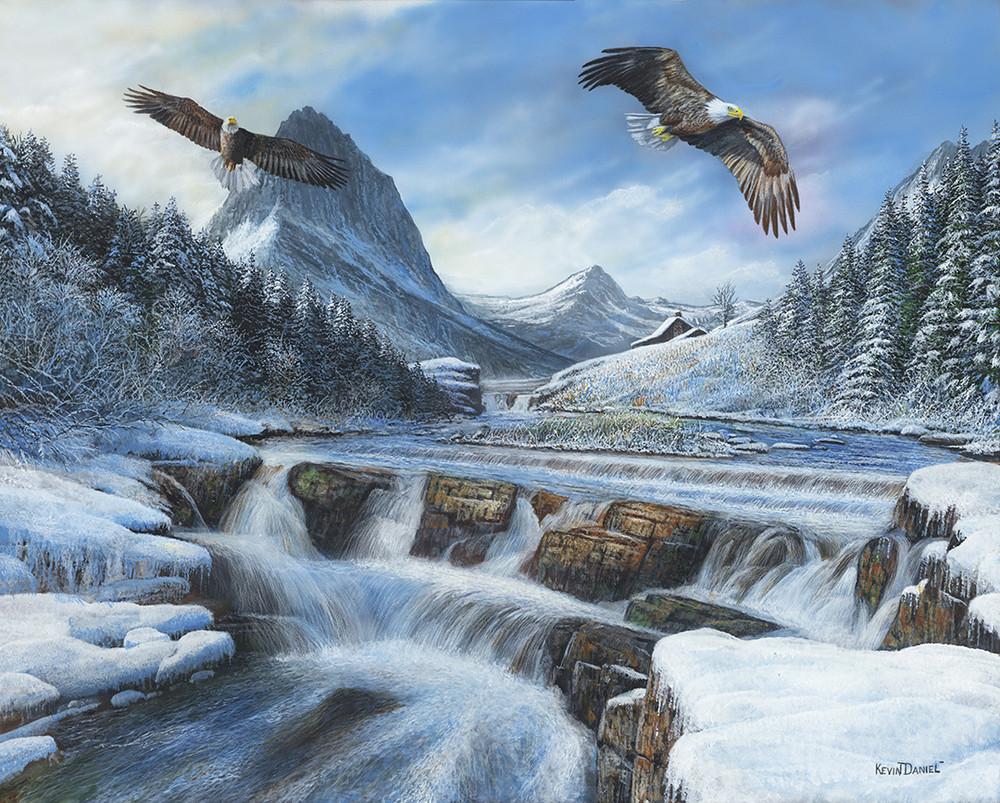 "Eagle Print ""Glacier Majesty"" | Kevin Daniel | KD493"