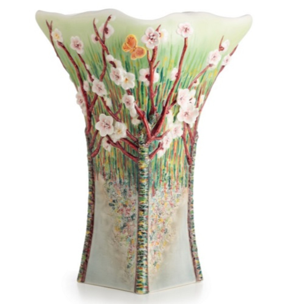 Van Gogh Almond Tree in Bloom Vase | FZ02699 | Franz Porcelain Collection