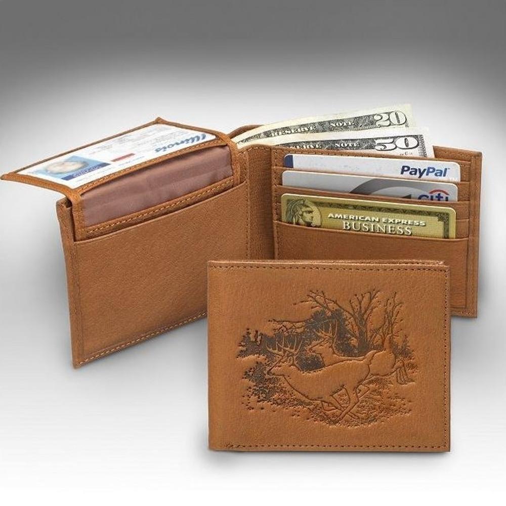 Deer Bucks Bifold Tan Wallet | KPDB15-D