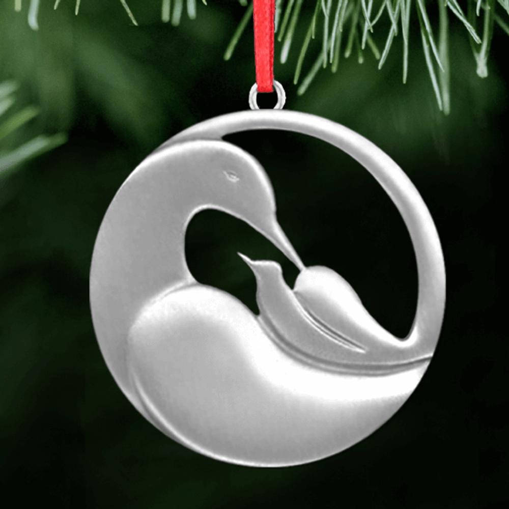 Dove Cradle Polished Pewter Ornament | Lovell Designs | LOVor135