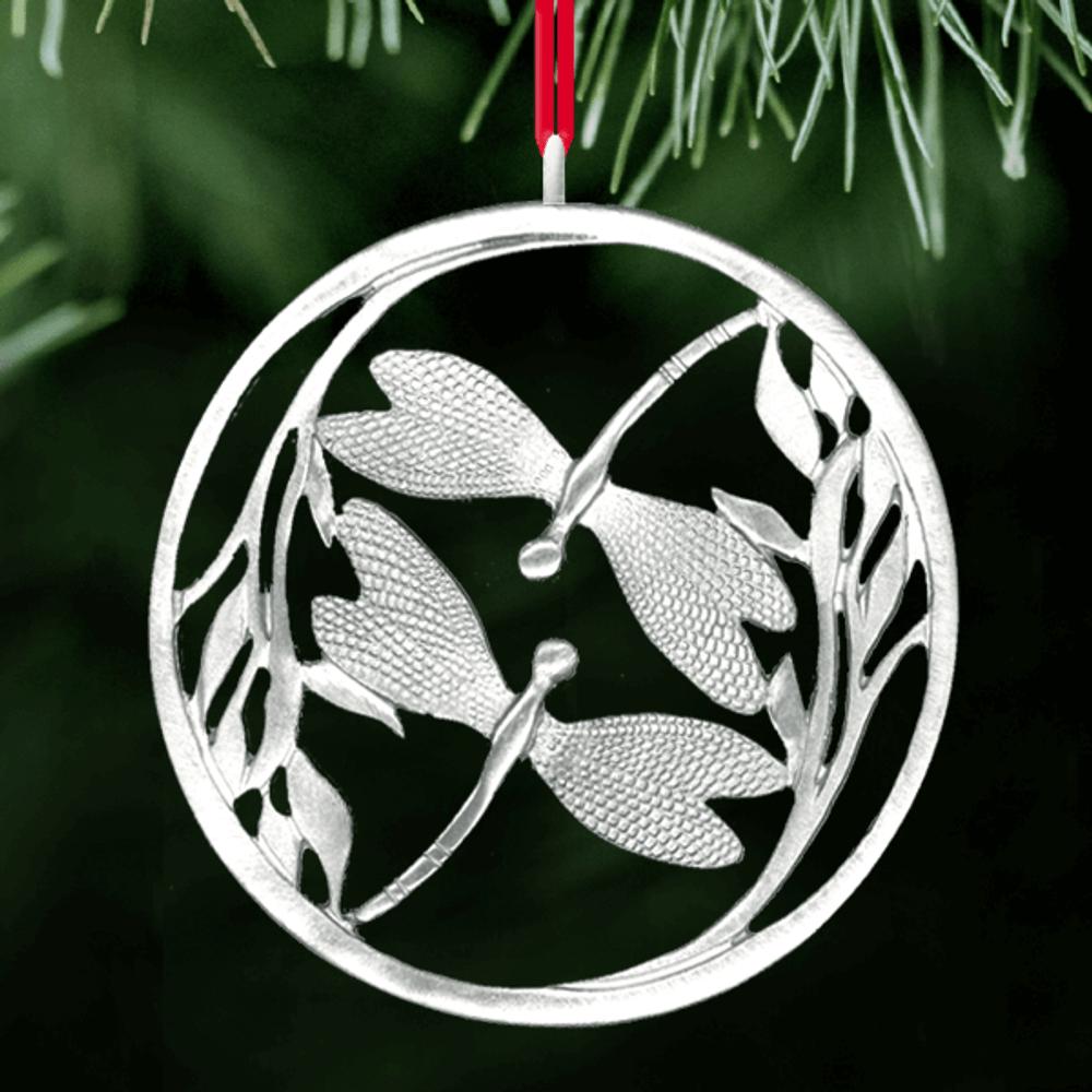 Dragonfly Polished Pewter Ornament | Lovell Designs | LOVor142