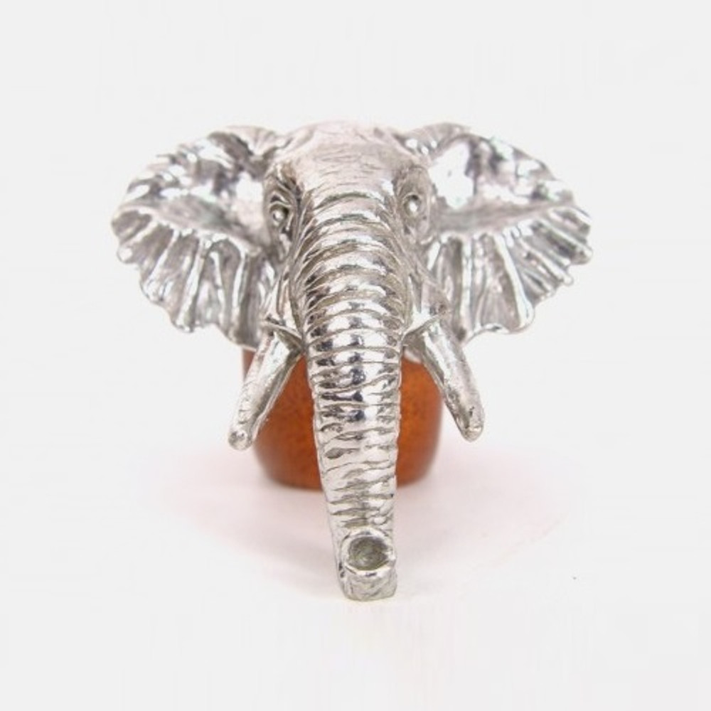 Elephant Wood and Pewter Napkin Ring | Mbare | MBSERW0017 -2