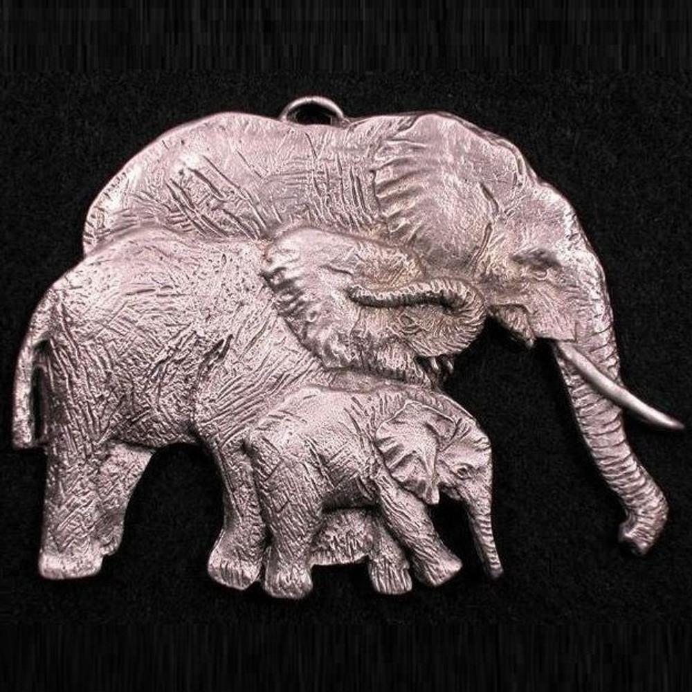 Elephant Family Pewter Ornament   Andy Schumann   SCHMC122103