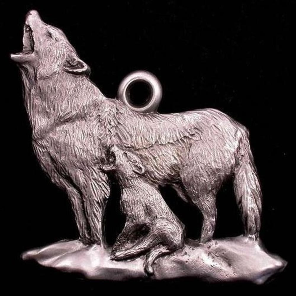 Wolf Pewter Ornament | Andy Schumann | SCHMC122106