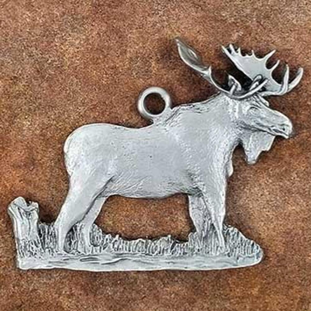 Moose Pewter Ornament   Andy Schumann   SCHMC122108