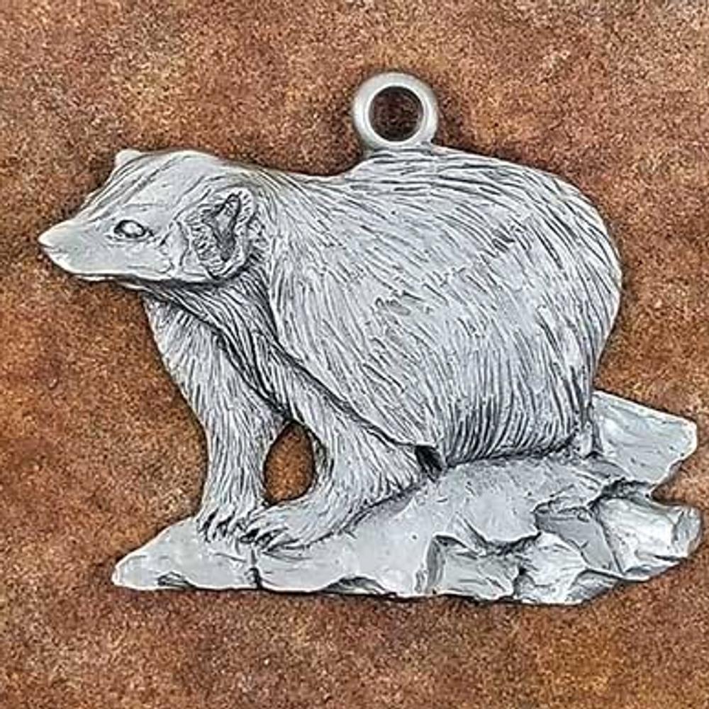 Badger Pewter Ornament | Andy Schumann | SCHMC122111