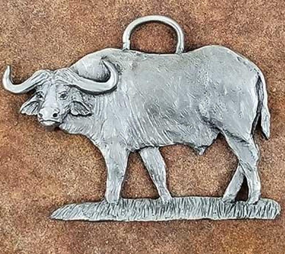 Cape Buffalo Pewter Ornament | Andy Schumann | SCHMC122118
