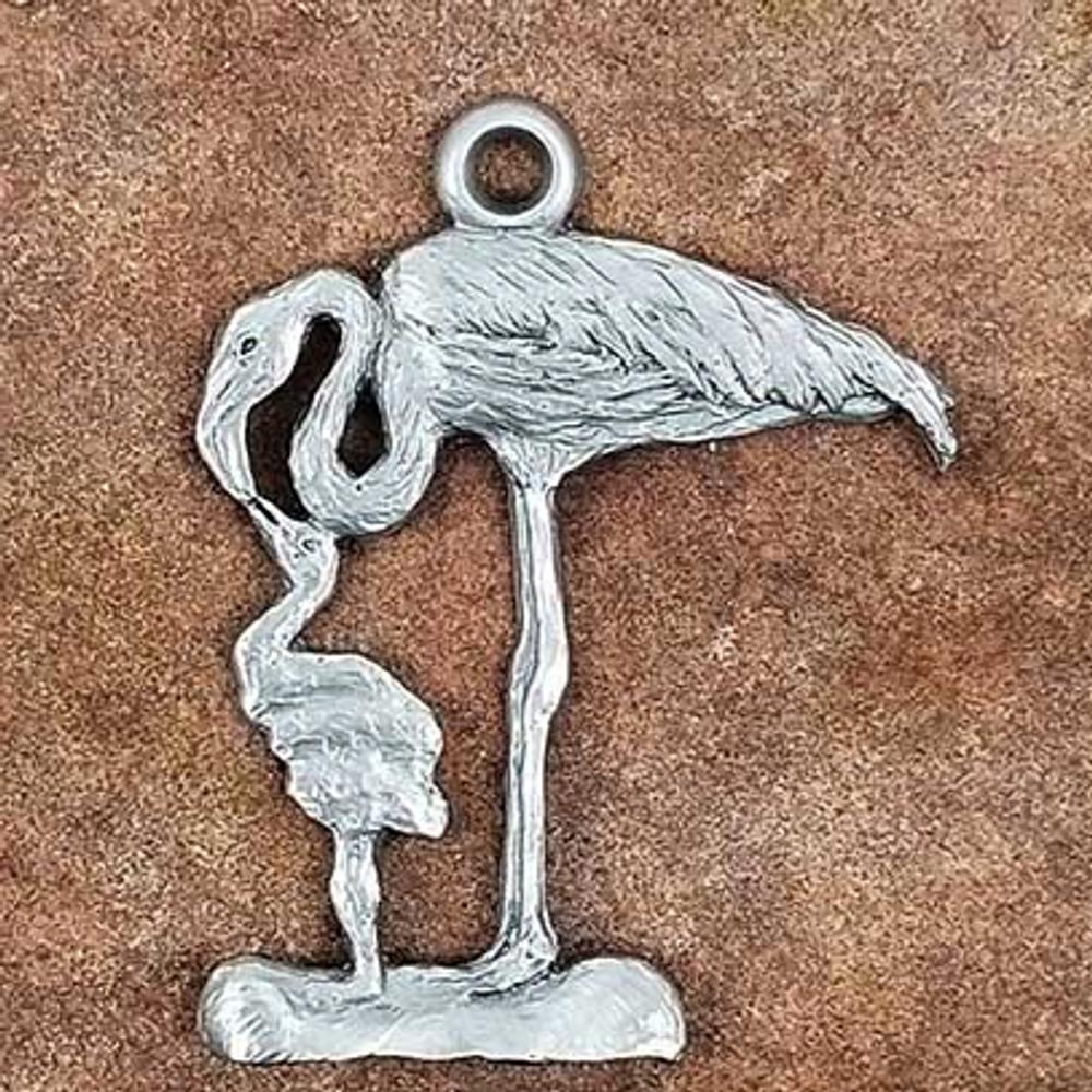 Flamingo Pewter Ornament   Andy Schumann   SCHMC122120