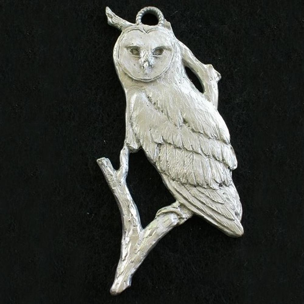 Owl Pewter Ornament | Andy Schumann | SCHMC122134