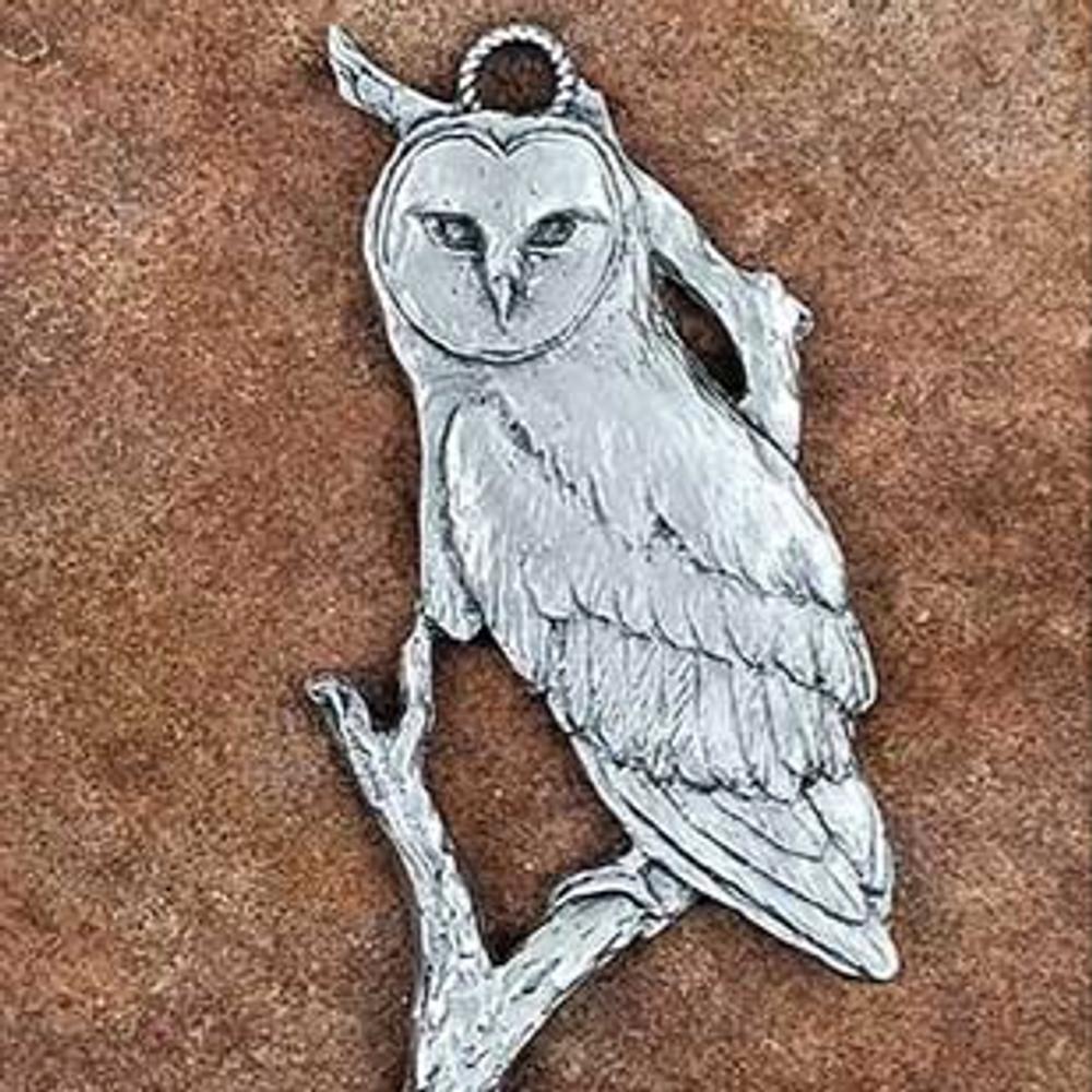 Owl Pewter Ornament   Andy Schumann   SCHMC122134