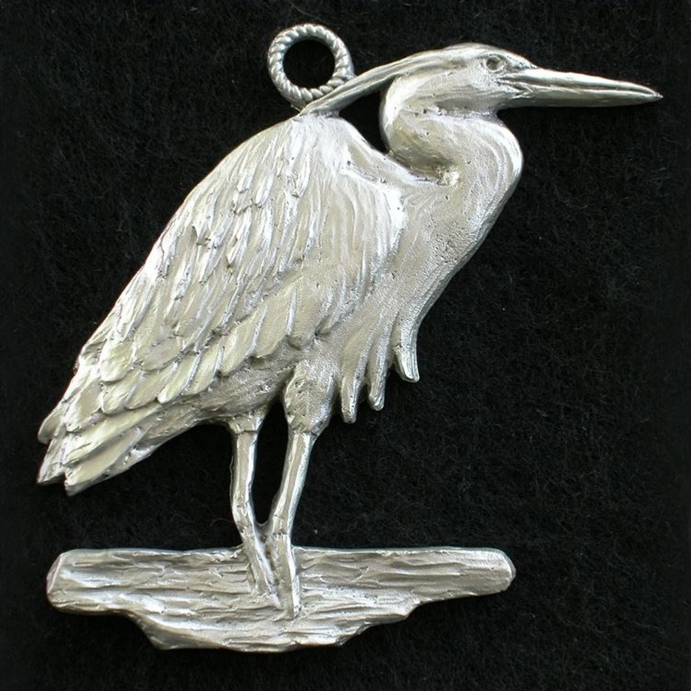 Heron Pewter Ornament | Andy Schumann | SCHMC122136