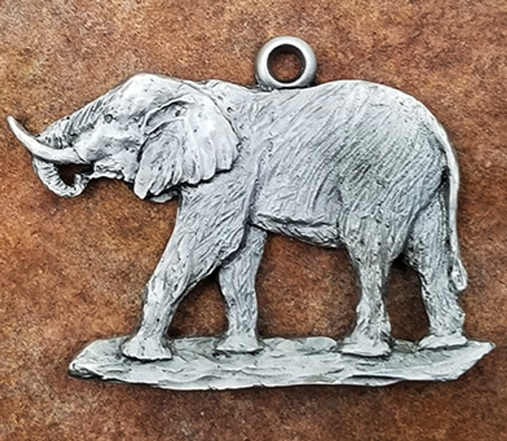 Elephant Pewter Ornament   Andy Schumann   SCHMC122147