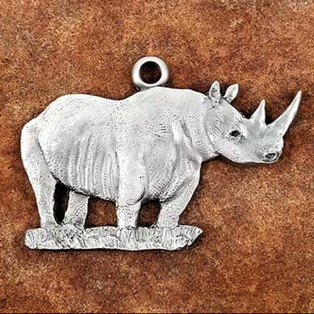 Rhino Pewter Ornament | Andy Schumann | SCHMC122148