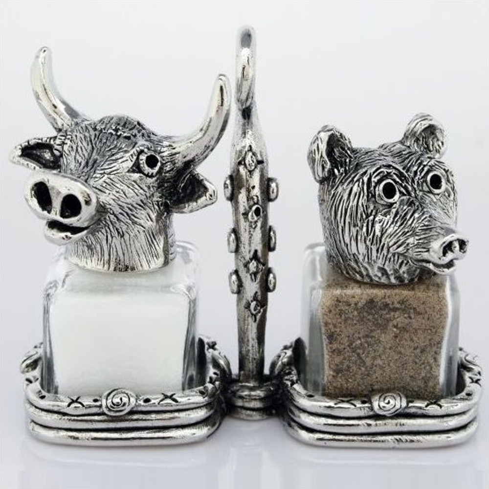 Bear Bull Market Salt Pepper Shakers | Silvie Goldmark | sgm12