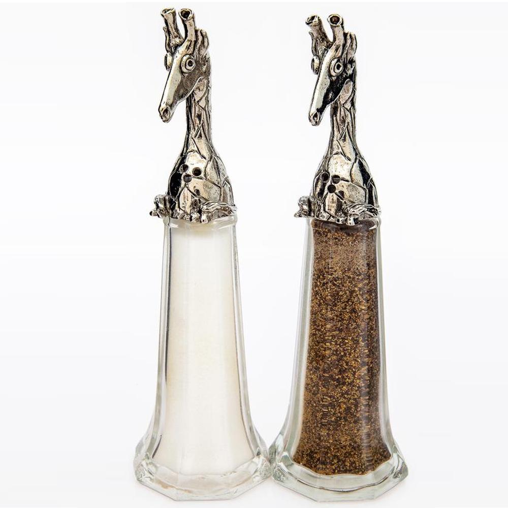 Giraffe Tall Salt Pepper Shakers   Silvie Goldmark   SGM129