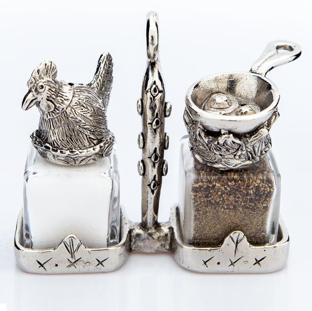 Chicken Egg Salt Pepper Shakers | Silvie Goldmark | SGM17