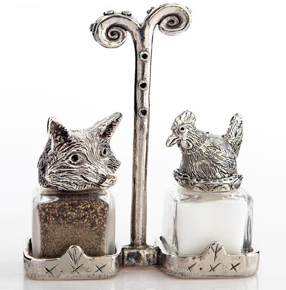 Fox Hen Salt Pepper Shakers   Silvie Goldmark   SGM21