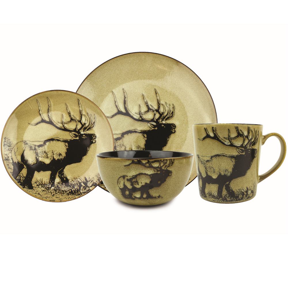 Elk Dinnerware 4 Piece Place Setting | Unison Gifts | UGITCDELK-1