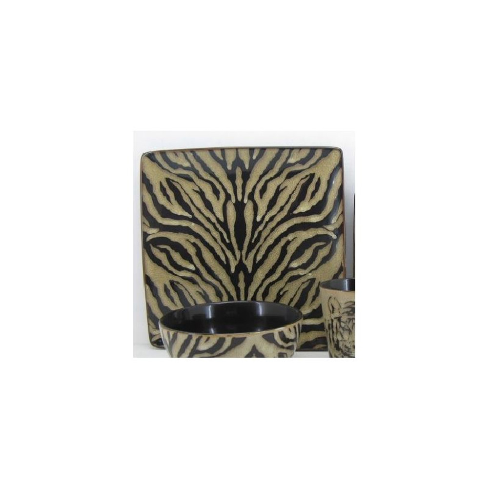 Tiger Dinnerware 4 Piece Place Setting | Unison Gifts | UGITCDTIGER-1 -3