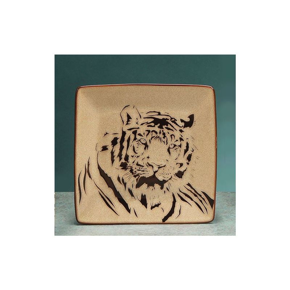 Tiger Dinnerware 4 Piece Place Setting | Unison Gifts | UGITCDTIGER-1 -4