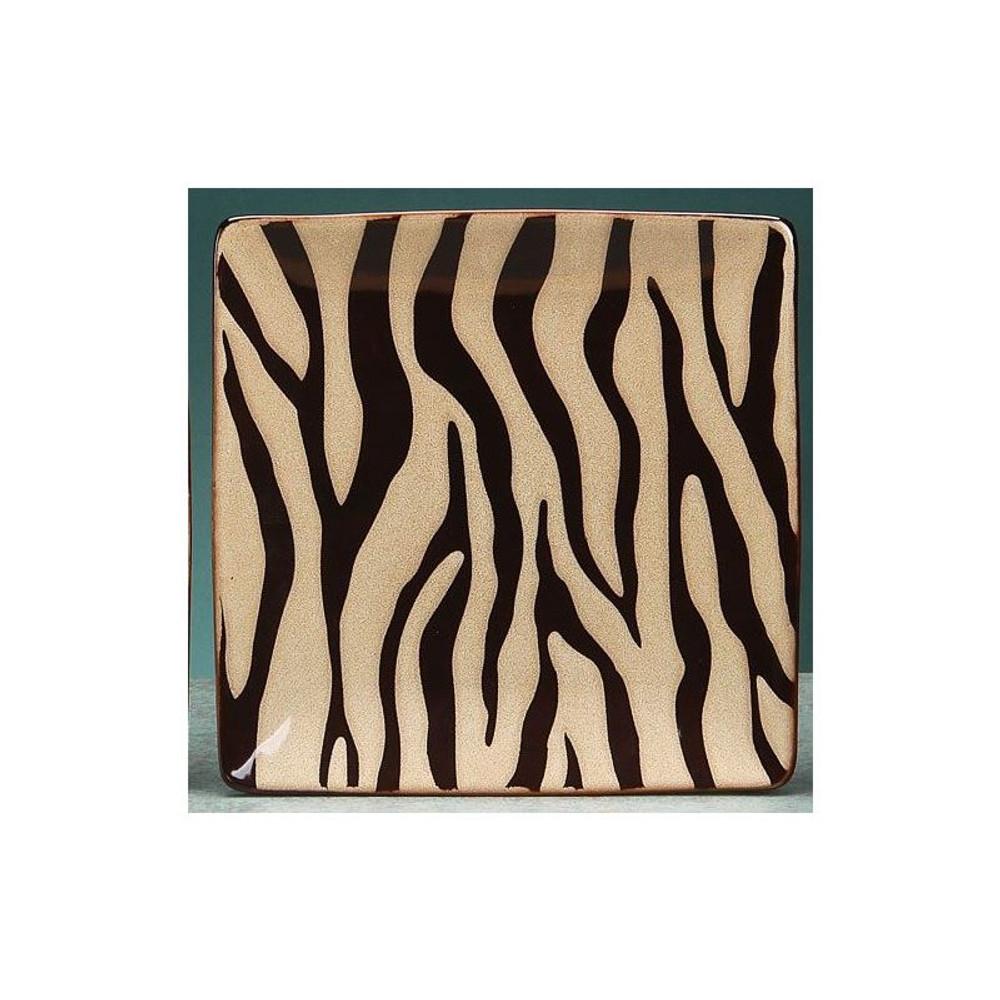 Zebra Dinnerware 4 Piece Place Setting | Unison Gifts | UGITCDZebra-1 -3
