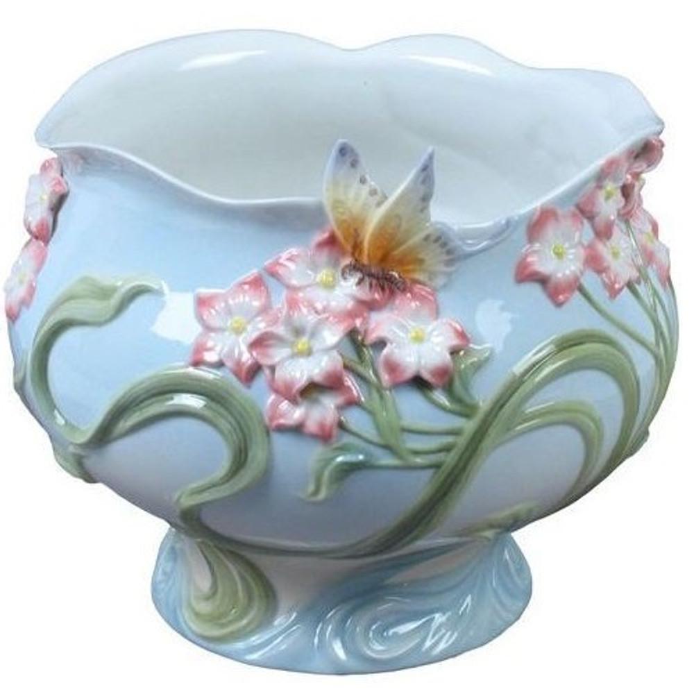 Freesia & Butterfly Porcelain Bowl | Unicorn Studios | USIAP20289AA