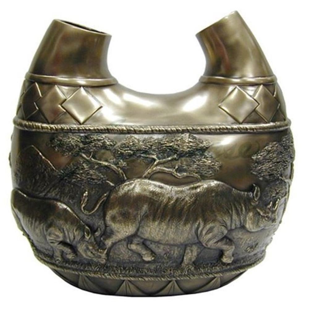 Rhino Safari Double Vase | Unicorn Studios | USIWU71496V1