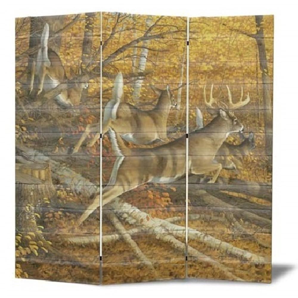 "Deer Cedar Room Divider ""Maple Rush"" | Wood Graphixs | WG704-55"