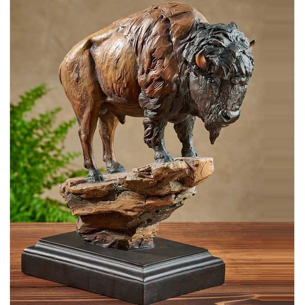 "Bison Sculpture ""El Patron""   Mill Creek Studios   6567443069"