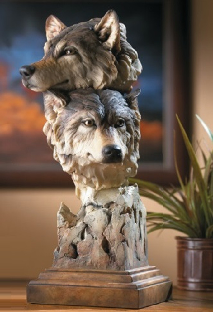 "Wolf Sculpture ""Kindred"" 