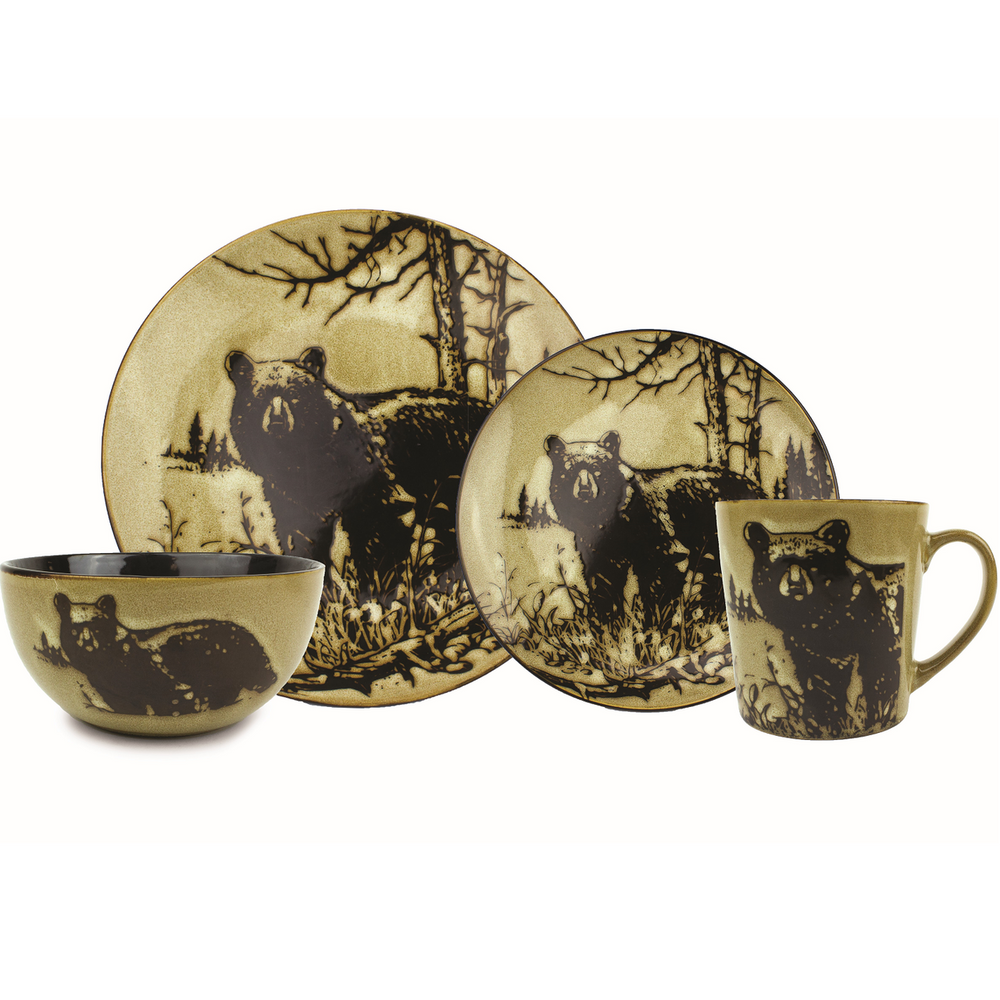 Bear Dinnerware 4 Pc Place Setting | Unison Gifts