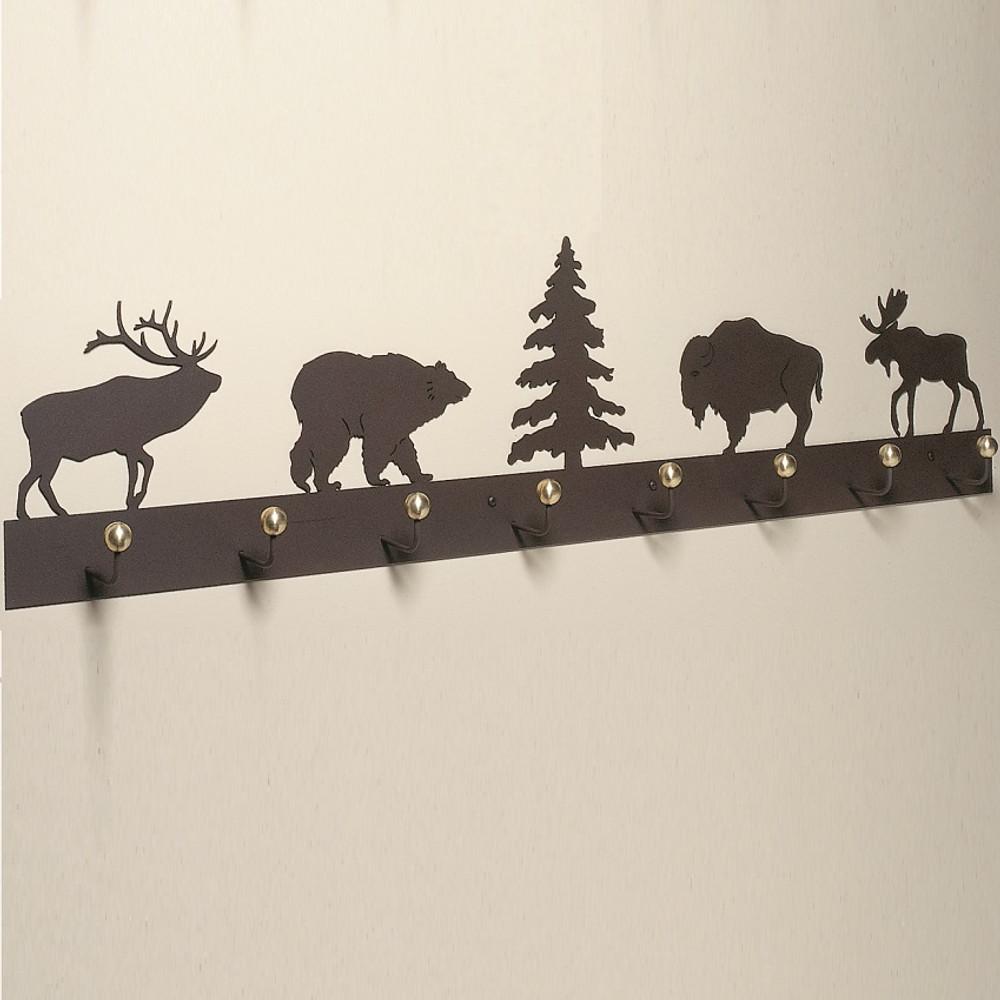 Elk, Bear, Bison & Moose Coat Rack | Colorado Dallas | CDCR48-11-12-13-14-10